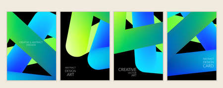 Abstract 3d liquid fluid color shape. Creative modern cover template. Bright neon gradient blend creating innovative 3D effect. Art vector background futuristic design.