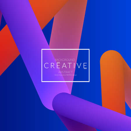 Abstract 3d liquid fluid color shape. Creative Modern Square wed banner template. Bright neon gradient blend creating innovative 3D effect. Art vector background futuristic design. Banque d'images - 96138829