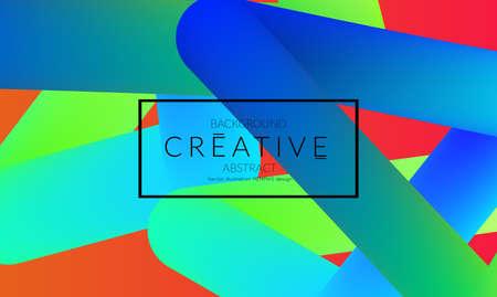 Abstract 3d liquid fluid color shape. Creative Modern vertical social media banner template. Bright neon gradient blend creating innovative 3D effect. Art vector background futuristic design. Banque d'images - 96138830
