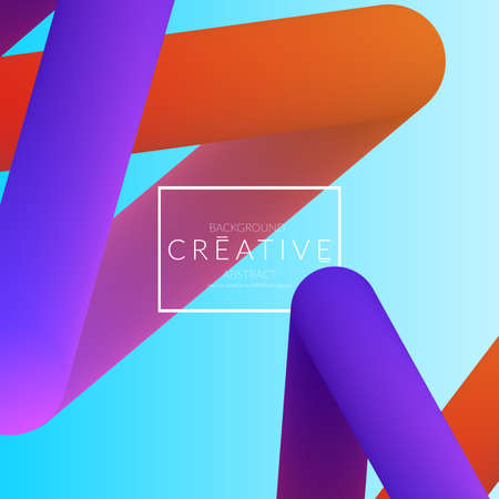 Abstract 3d liquid fluid color shape. Creative Modern Square wed banner template. Bright neon gradient blend creating innovative 3D effect. Art vector background futuristic design. Banque d'images - 96138840