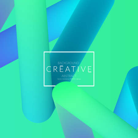 Abstract 3d liquid fluid color shape. Creative Modern Square wed banner template. Bright neon gradient blend creating innovative 3D effect. Art vector background futuristic design. Banque d'images - 96140369