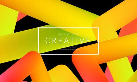 Abstract 3d liquid fluid color shape. Creative Modern vertical social media banner template. Bright neon gradient blend creating innovative 3D effect. Art vector background futuristic design.