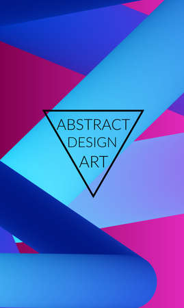 Abstract 3d liquid fluid color shape. Creative Modern vertical wed banner template. Bright neon gradient blend creating innovative 3D effect. Art vector background futuristic design. Banque d'images - 96160127
