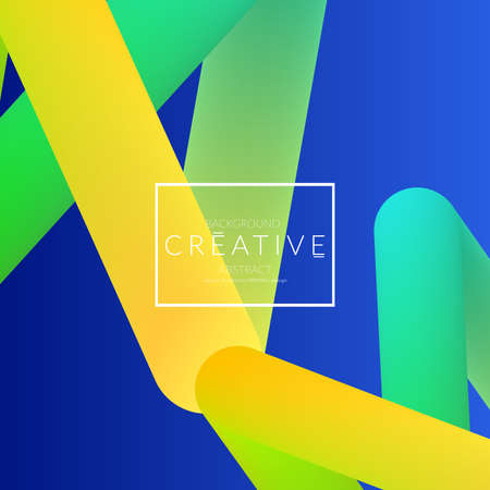 Abstract 3d liquid fluid color shape. Creative Modern Square wed banner template. Bright neon gradient blend creating innovative 3D effect. Art vector background futuristic design.