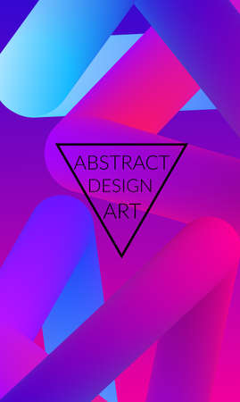Abstract 3d liquid fluid color shape. Creative Modern vertical wed banner template. Bright neon gradient blend creating innovative 3D effect. Art vector background futuristic design. Illustration
