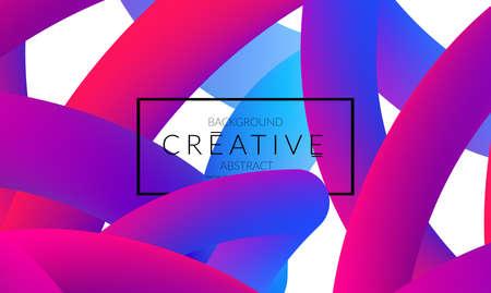 Résumé 3d liquide liquide motif de couleur créative moderne animation de modèle de tendance futuriste . complexe néon néon brillant créant le contenu 3d fond . animation futuriste de conception de vecteur Banque d'images - 96139018