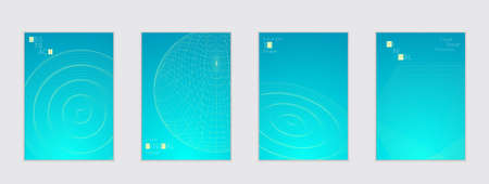 Minimal cover templates with futuristic 3D meshes.