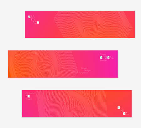 Minimal banner templates with futuristic 3D meshes.