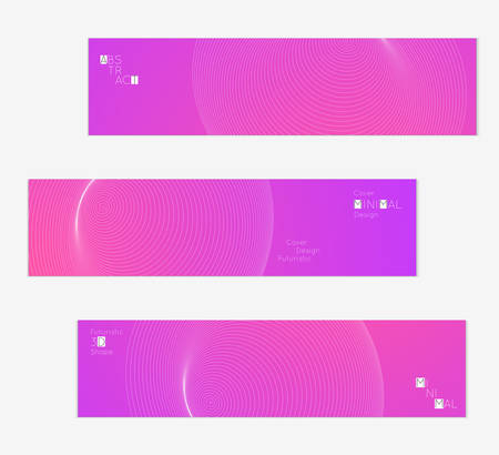 Minimal banner templates with futuristic 3D meshes. Abstract grid shape on bright gradient background. Social media web banner. Future geometric design.
