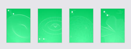 A Minimal cover templates with futuristic 3D meshes. Illustration