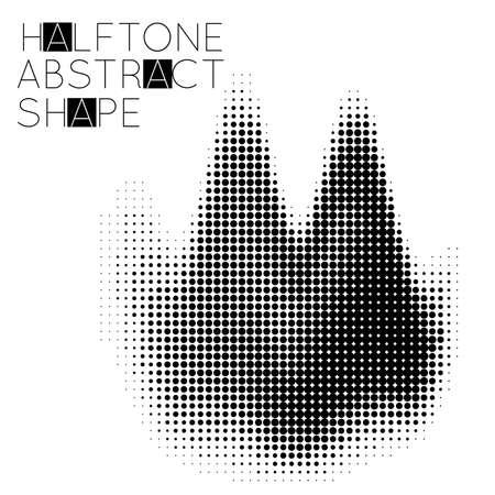 Abstract halftone geometric shape isolated on white background. Futuristic design element. Stock fotó - 96518494