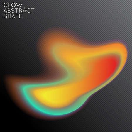 Forme fluide abstraite isolée sur fond noir transparent. Un dégradé coloré et brillant crée un mouvement liquide avec une lueur transparente. Plasma de puissance énergétique avec effet de flou de bord futuriste.