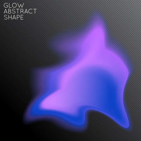 Abstract fluid shape isolated on transparent black background. Bright colorful gradient blend creates liquid motion with transparent glow. Energy power plasma with futuristic edge blur effect. Illustration