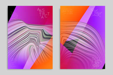 Minimal banner templates with marble striped texture. Abstract bright color splash background. Social media web banner. Future geometric design with marbling pattern.