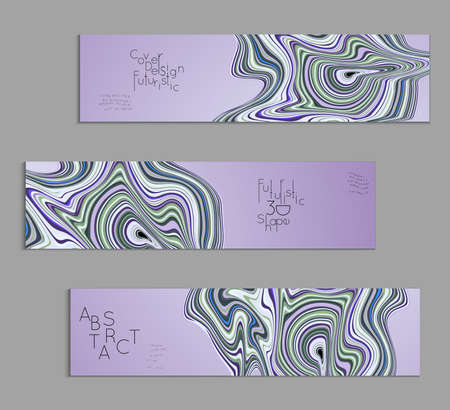 Purple banner templates with marble striped texture.