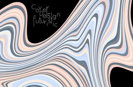 Cover design banner template with marble striped texture. Ilustração