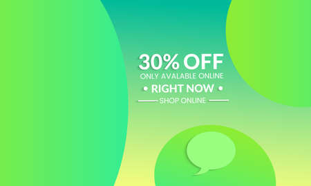 Abstract geometric background. Modern template for social media banner. Contemporary material design with realistic shadow over flat gradient background.