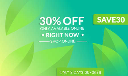 Abstract geometric background with gradient vanishing leaves. Modern template for social media banner. Contemporary material design with realistic shadow over flat gradient background. Illustration