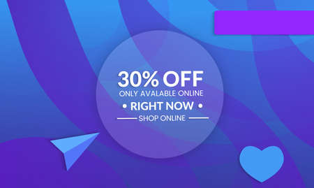 Abstract geometric background with floral shapes.Modern template for social media banner. Contemporary material design with realistic shadow over flat gradient background.