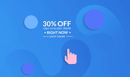 Abstract geometric background with vanishing waves. Modern template for social media banner. Contemporary material design with realistic shadow over flat gradient background.