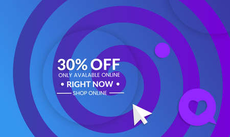 Abstract geometric background with spiral.Modern template for social media banner. Contemporary material design with realistic shadow over flat gradient background.