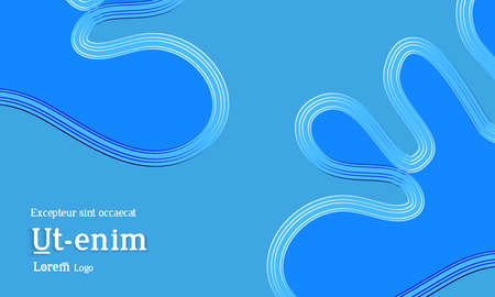 Abstract web templates with wavy embossed gradient shapes on gradient background. Social media web banner or landing page. Fluid lighting effect with smooth liquid colors.