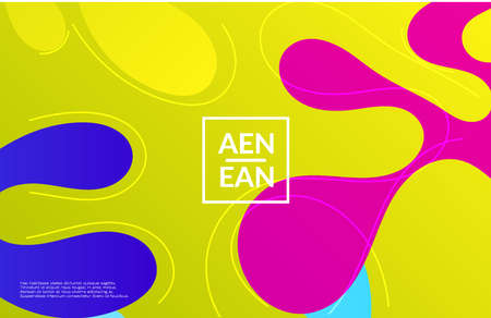 Abstract web templates with wavy gradient shapes and curvy lines. Social media web banner or landing page. Wavy geometric background.