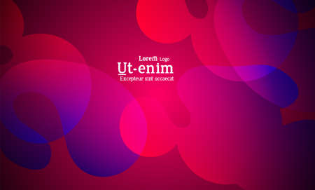 Abstract web templates with wavy overlapping gradient shapes on bright colored background. Social media web banner or landing page. Fluid lighting effect with smooth liquid colors.