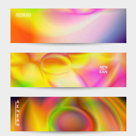Abstract smooth gradient colors shiny flare moving effect. Northern lights vector background. Glowing hologram texture futuristic outer space energy flow creates psychedelic pattern.