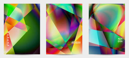 Abstract irregular polygonal background. Multicolored gradient of reflected light in crystal or diamond structure. Fragile sharp shattered ice or glass texture. Ambient light of low poly cubism