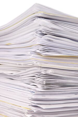 Large stack of documents or files, overload of paperwork