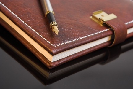 journals: Pen on a closed personal diary