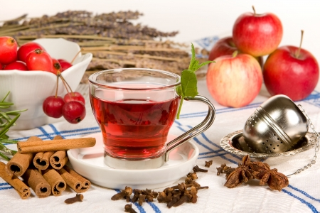 star anise: Tea, rose hips, appes, cinnamon and star anise