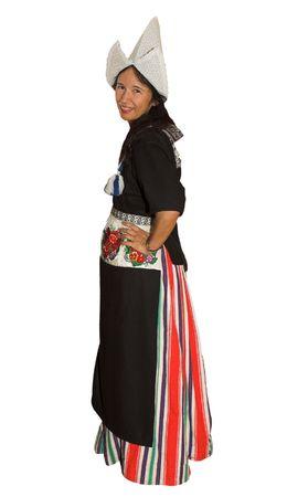 dutch culture: Woman wearing the Dutch traditional costume