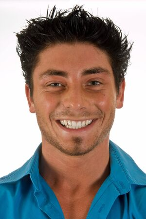 Closeup portrait of a smiling attractive young man Stock Photo - 3940248