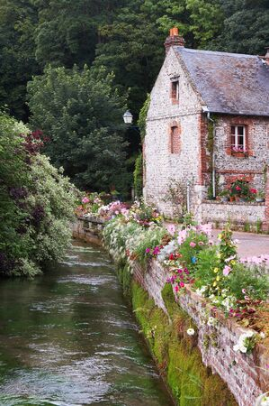 normandy: Beautiful house in Normandy, near the shortest river in France, at Veules les Roses