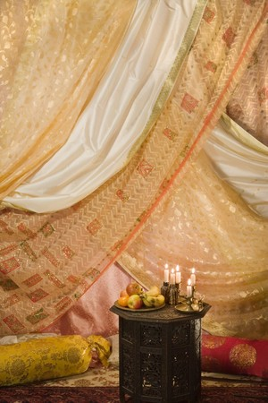 Decorated interior suitable as a background for Arabian nights
