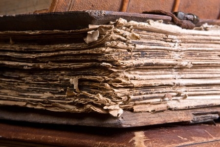Pages of an antique book of over 300 years old (1691 to be precise) Stock Photo