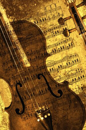 fiddles: Classical violin isolated against a grunge background