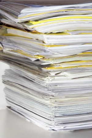 school form: Stack of files and paperwork