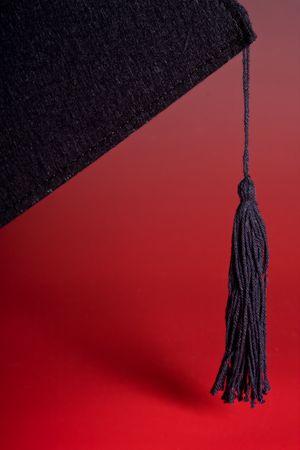 Detail of the black tassel of a graduation cap Stock Photo - 4691435