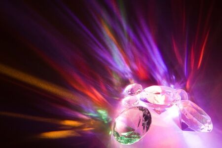 fascinating: Fascinating rainbow colors due to light dispersion in crystals