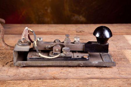 telegraaf: Fijne specimen van een echte antieke morse code telegraph machine