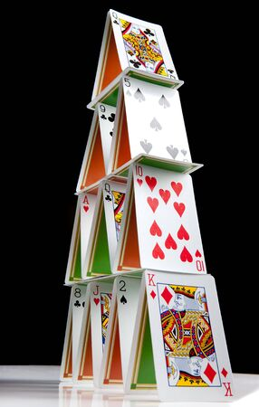 Stable construction of a 4 layer house of cards