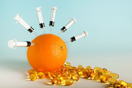 Vitamins and flu vaccines for protection against swine flu Stock Photo - 5428809