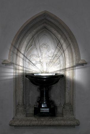 baptismal: Baptismal font with mysterious lights shining