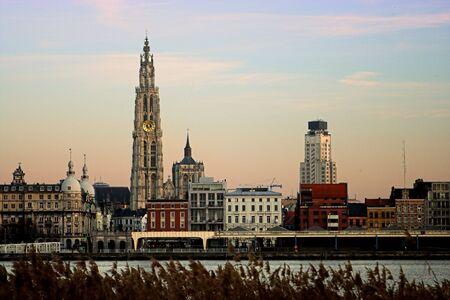 View on Antwerp and the river Scheldt