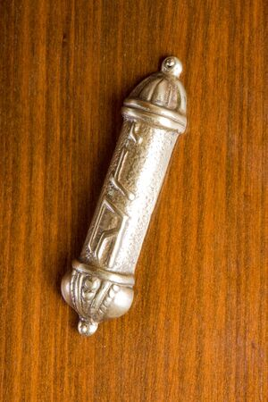 Antique mesusah on a door-post of a jewish home photo