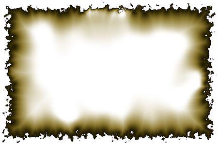 burnt edges: Empty parchment border with burnt edges Stock Photo