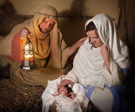 pesebre: Vivir la recreaci�n de la escena de la Natividad de Navidad